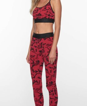 Koral Activewear Camo Knockout Legging met rood camouflage print