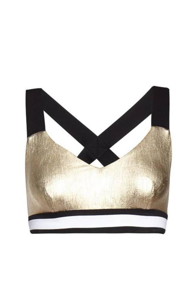 NO KA'OI Kalia Leggings Gold - Metallic Couture Legging in Gold and Silver
