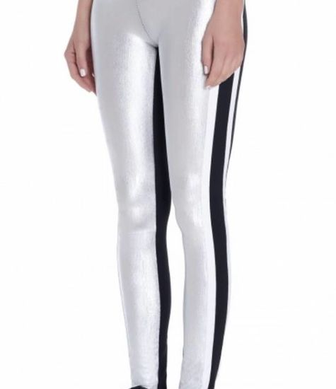 NO KA'OI  Metallic Couture Legging in Gold and Silver