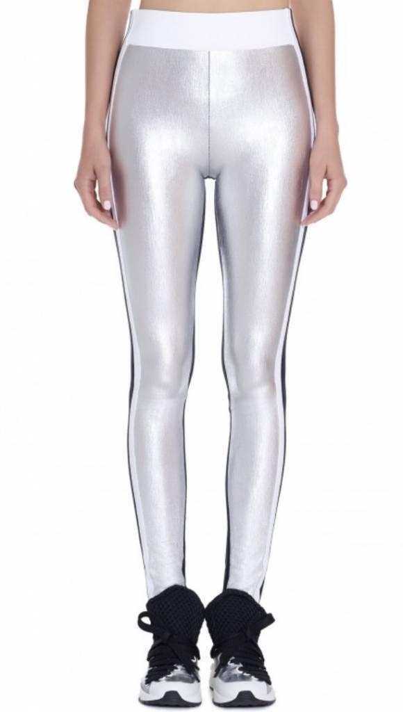 NO KA'OI Kalia Leggings Silver - Metallic Couture Legging in Gold and Silver