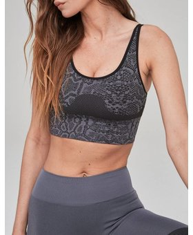 Varley Reed Sports Bra Grey Snake