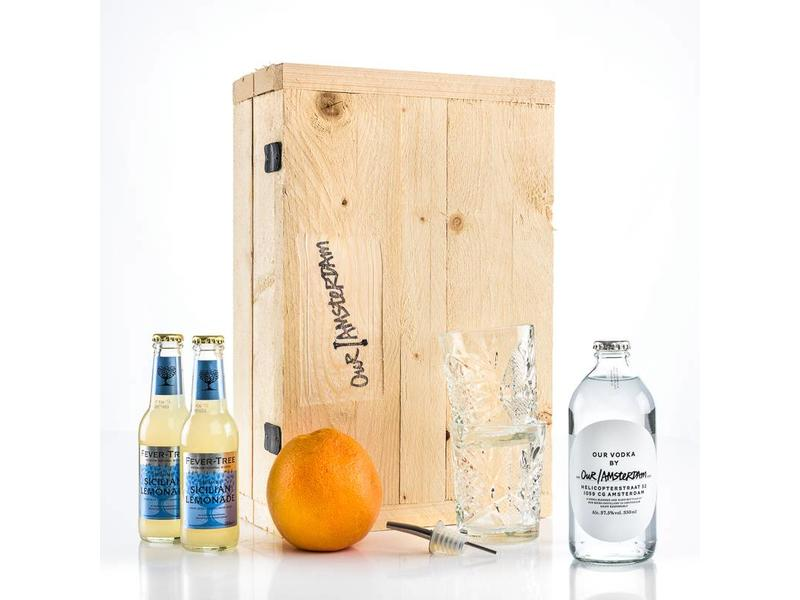 Our/Amsterdam vodka box