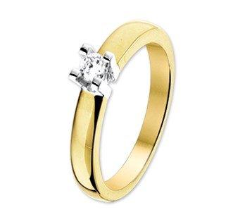 ring met diamant goud