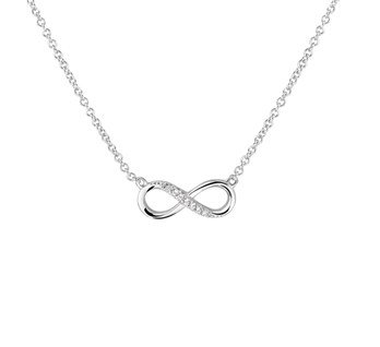Zilveren collectie Infinity Collier