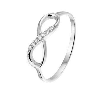 Zilveren huis collectie Infinity Ring