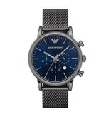 Armani the black milanese watch