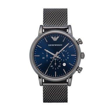 Emporio Armani the black milanese watch