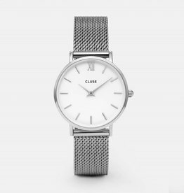 Cluse MINUIT MESH SILVER/WHITE
