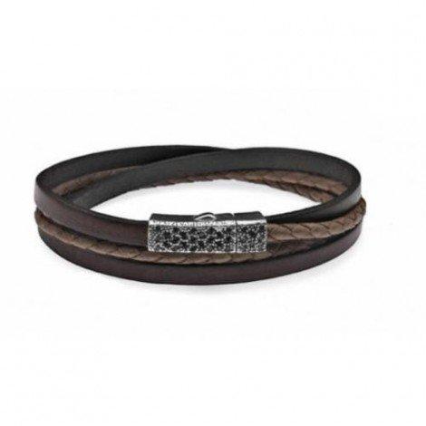Platadepalo Armband Cognac-brown L28D T