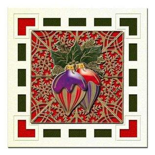 Sticker geprägte Ziersticker, Weihnachtskugel