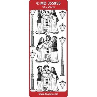 Sticker geprägte Ziersticker, nostalgische Musikanten