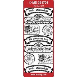 Sticker autocollants décoratifs en relief, texte allemand « Salutations de Noël »