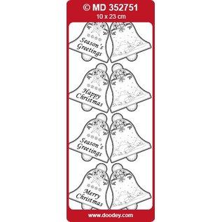 Sticker geprägte Ziersticker, Glocken Labels