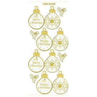 Sticker geprägte Ziersticker, Weihnachtskugel Labels
