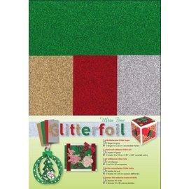 Karten und Scrapbooking Papier, Papier blöcke Glitterfolie
