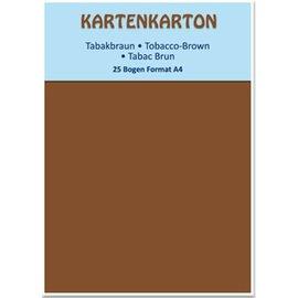 DESIGNER BLÖCKE / DESIGNER PAPER cartolina marrom A4 tabaco,