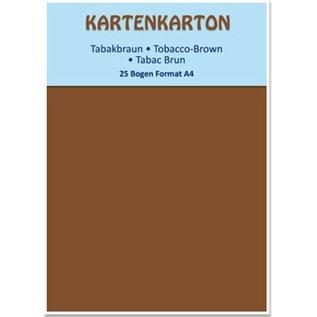 DESIGNER BLÖCKE / DESIGNER PAPER Card stock A4 brun tabac,