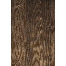 DESIGNER BLÖCKE / DESIGNER PAPER Metallic reliëf papier: Wood