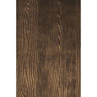 DESIGNER BLÖCKE / DESIGNER PAPER Metallic præget papir: Træ