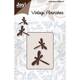 Joy!Crafts / Jeanine´s Art, Hobby Solutions Dies /  Stansning og prægning skabeloner: 2 Dragonfly
