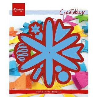 Marianne Design Stansning og prægning skabelon: Rosette