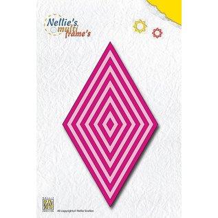 Nellie Snellen Stansning og prægning skabeloner: Multiframe Denne diamant