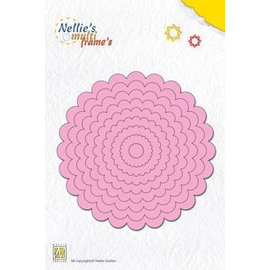 Nellie Snellen Punching and embossing templates: multi-frame curled round