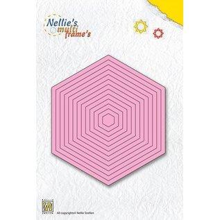 Nellie Snellen Stanzschablonen: Multi Rahmen hexagon