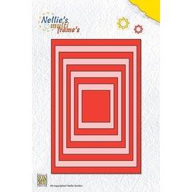 Nellie Snellen Poinçonnage et gaufrage modèles: rectangles multi frame