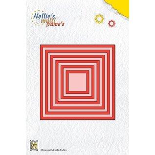 Nellie Snellen Stansning og prægning skabeloner: Multi frame firkanter
