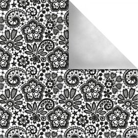 Designer Papier Scrapbooking: 30,5 x 30,5 cm Papier Carta design di Parigi, fiori di retro