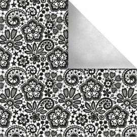 Designer Papier Scrapbooking: 30,5 x 30,5 cm Papier Projeto do papel de Paris, Flores retros