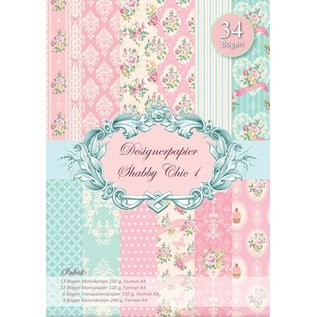 DESIGNER BLÖCKE / DESIGNER PAPER Designerpapierset Shabby Chic