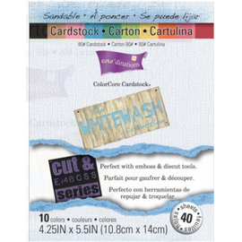 Karten und Scrapbooking Papier, Papier blöcke Colorcore set cardstock badigeon