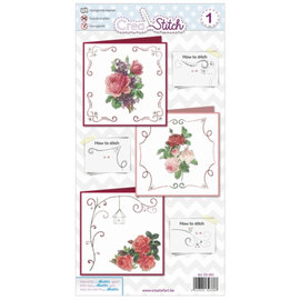 BASTELSETS / CRAFT KITS Beautiful embroidery cards