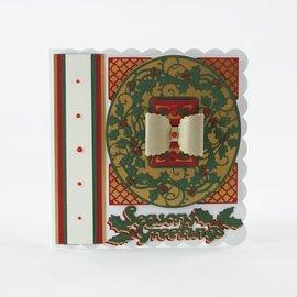 Tonic stampaggio e goffratura stencil: cornice decorativa di Natale