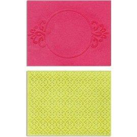 embossing Präge Folder Embossing pastas: Círculo Frame & faísca Lina Set