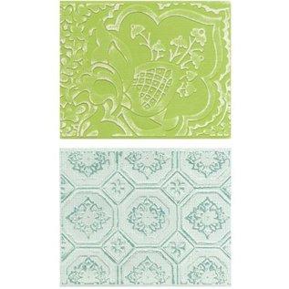 embossing Präge Folder Prægning mapper: Free Spirit Florals Set