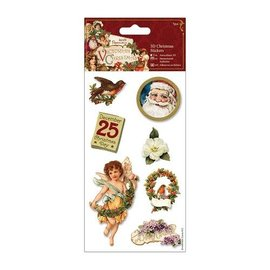 Sticker 3D stickers Kerstmis, Victoriaanse Kerstmis