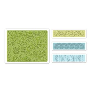 embossing Präge Folder Embossing folders: Bohemian Botanicals Set