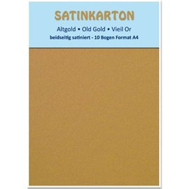 "Karten und Scrapbooking Papier, Papier blöcke Satinkarton A4, ""Altgold"""