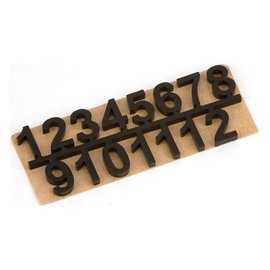 Embellishments / Verzierungen números de auto-adesivas set 1 t / m 12, Preto