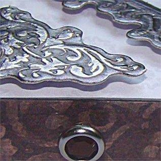 Embellishments / Verzierungen Metallic embossed Cardboard