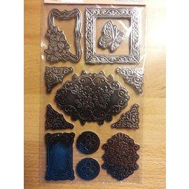 Embellishments / Verzierungen Metallic gaufré Carton - Copy