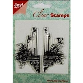 Joy!Crafts / Jeanine´s Art, Hobby Solutions Dies /  Gennemsigtige Frimærker: stearinlys dekoration