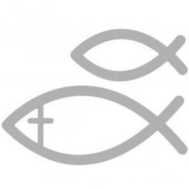 Spellbinders und Rayher Perfuração e molde de estampagem: comunhão peixes