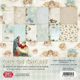 Designer Papier Scrapbooking: 30,5 x 30,5 cm Papier Designerblock: Silent Night