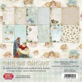 Designer Papier Scrapbooking: 30,5 x 30,5 cm Papier Ontwerper Block: Silent Night