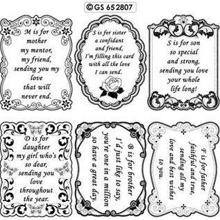 Sticker Zierrahmen mit Text in englisch
