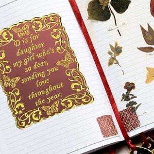 Sticker Dekorative ramme med tekst på engelsk